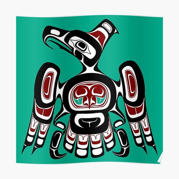 Northwest Pacific coast Kaigani Thunderbird Poster