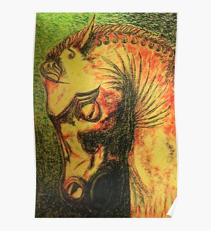 Ancient Persian Horse Head Poster