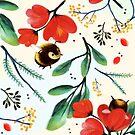 Bumblebee Pattern by JenBargerIllys