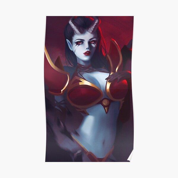 Queen of Pain / DOTA 2 Print Design. Poster