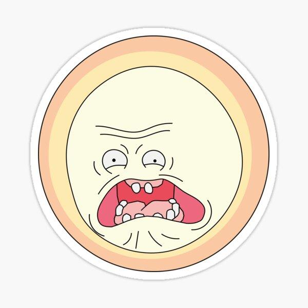 Screaming Sun Sticker
