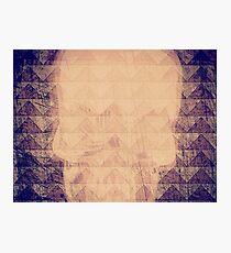 Mauve Skull Photographic Print