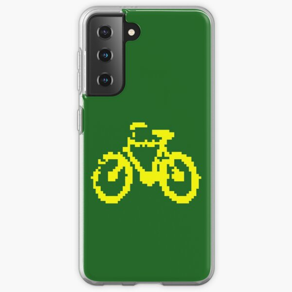 1 bit pixel bike (yellow) Samsung Galaxy Soft Case