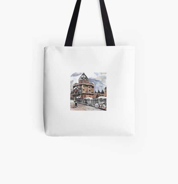 Unique collage of Oxford University Radcliffe Camera All Over Print Tote Bag