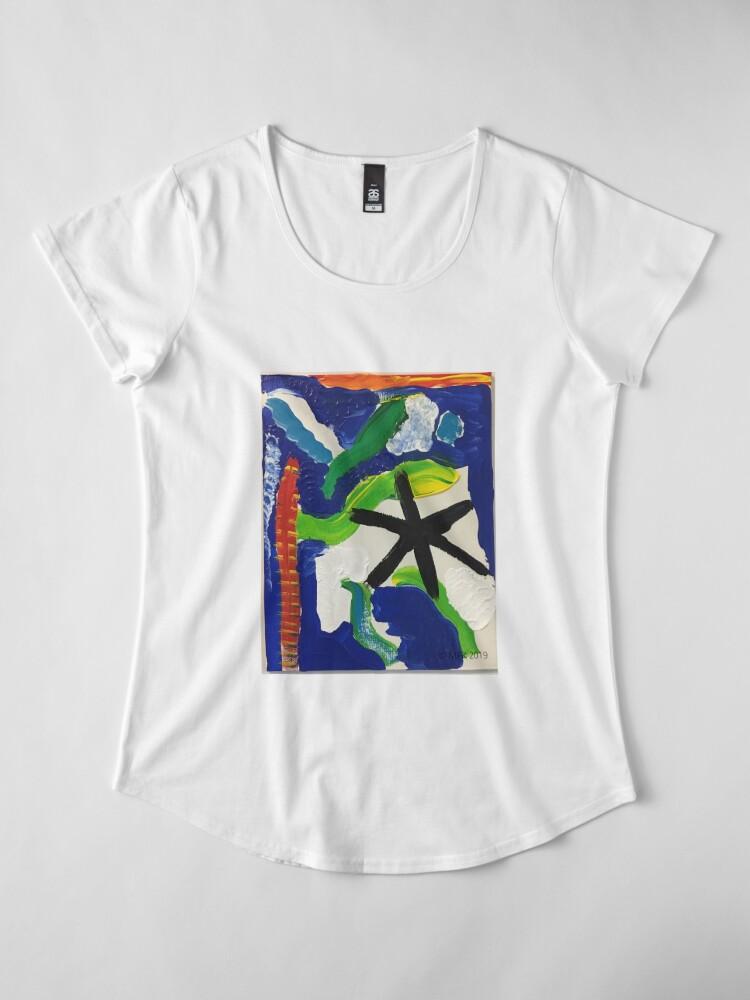 Alternate view of River Flows Premium Scoop T-Shirt
