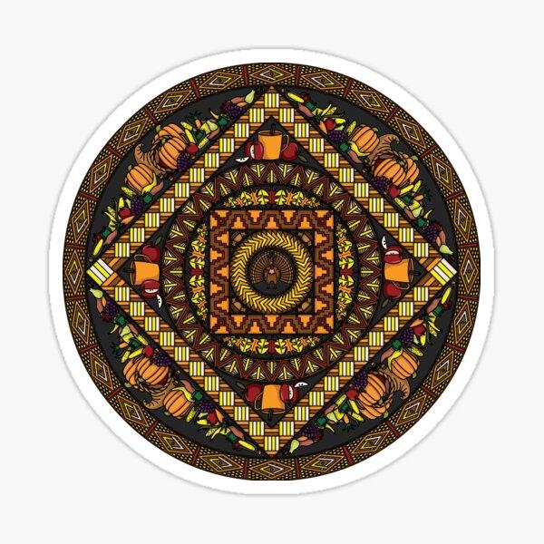 Thanksgiving Icons Mandala Sticker