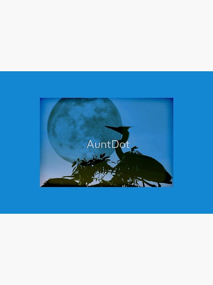 Blue Heron, Blue Moon by AuntDot