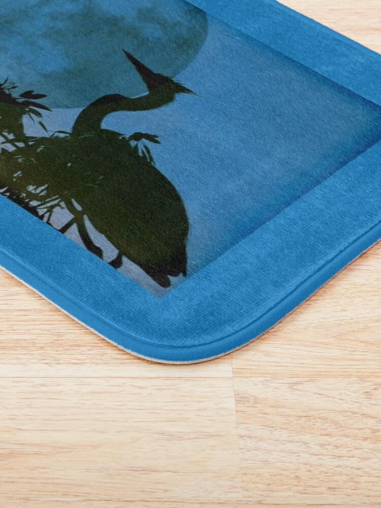 Alternate view of Blue Heron, Blue Moon Bath Mat