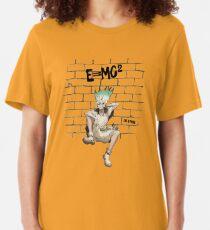 Dr Stone - Senku graffiti Slim Fit T-Shirt