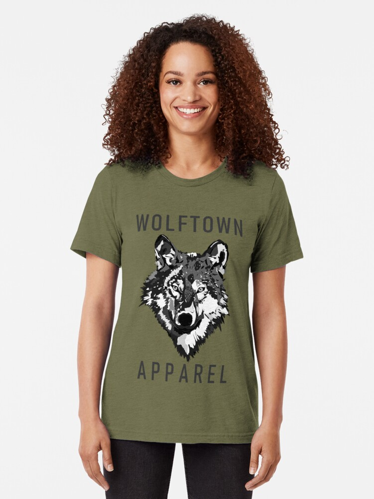 Alternate view of Wolftown 2 Tri-blend T-Shirt
