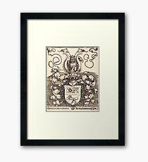 Albrecht Dürer or Durer Coat of Arms of Lorenz Staiber Framed Print