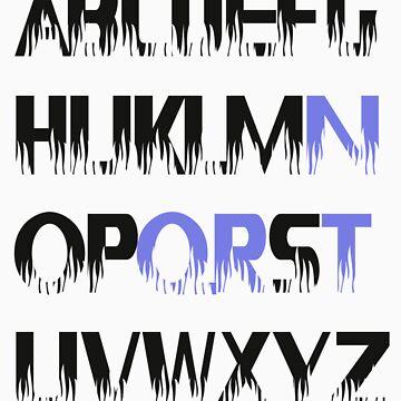 tron alphabet tshirt by roger bros by tron2010