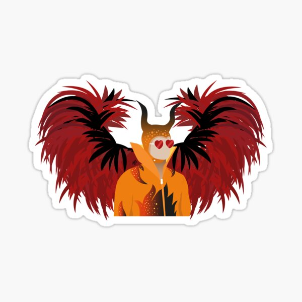 Rocketman Devil Sticker