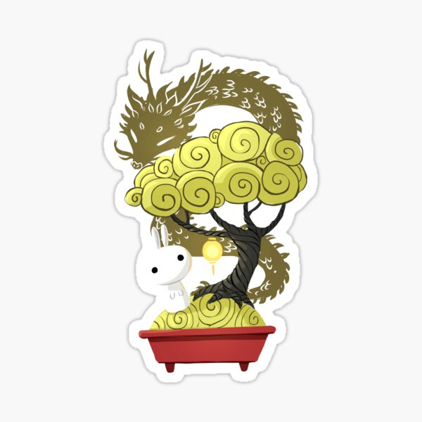 Bonsai Bunny Sticker