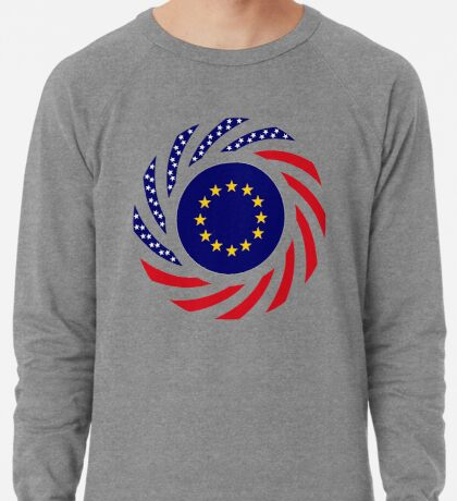 European American Multinational Patriot Flag Series Lightweight Sweatshirt