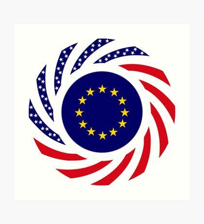 European American Multinational Patriot Flag Series Art Print