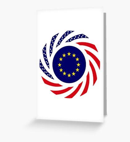 European American Multinational Patriot Flag Series Greeting Card