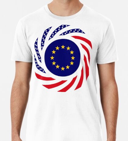European American Multinational Patriot Flag Series Premium T-Shirt