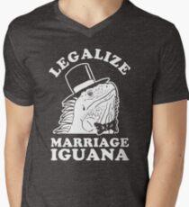 Legalize Marriage Iguana Men's V-Neck T-Shirt