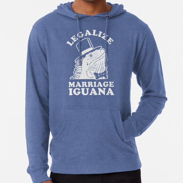Legalize Marriage Iguana Lightweight Hoodie