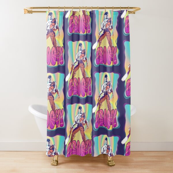 Evil Dead Ash Williams Groovy Shower Curtain
