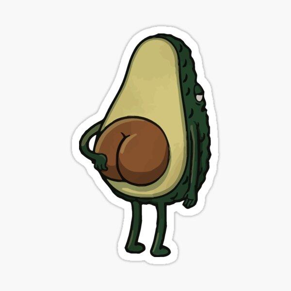 Butt Crack Avocado Sticker