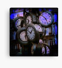 Clocks at Dusk Canvas Print