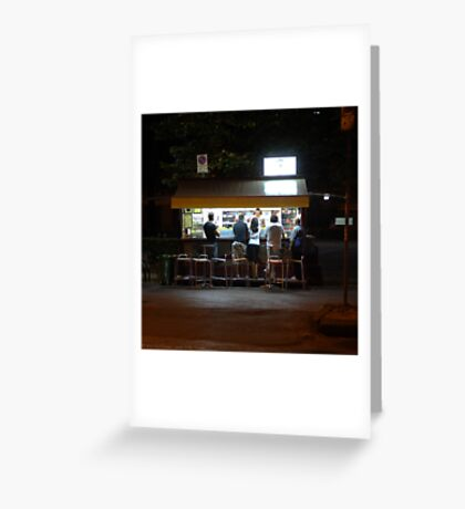 Late Supper - Florence Greeting Card