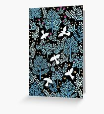 white birds garden Greeting Card