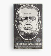 FBI J Edgar Hoover Propaganda Print Metal Print