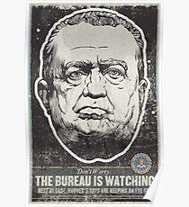FBI J Edgar Hoover Propaganda Print Poster