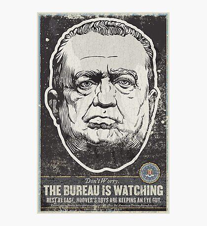 FBI J Edgar Hoover Propaganda Print Photographic Print