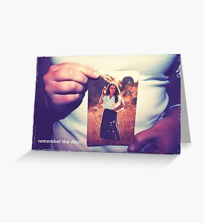 hands remember.  Greeting Card