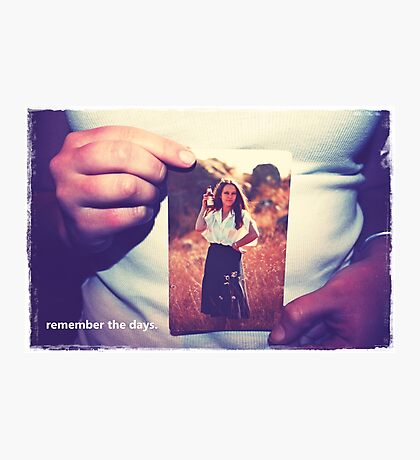 hands remember.  Photographic Print