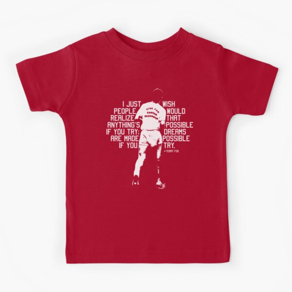 Terry Fox - Quote Kids T-Shirt
