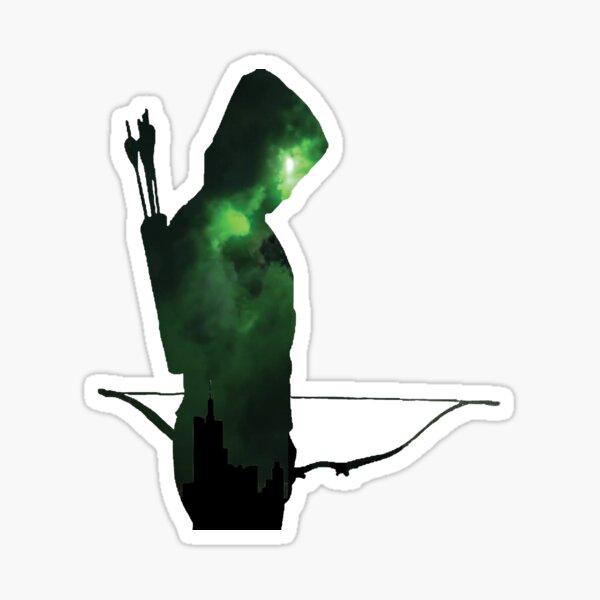 Silueta de flecha verde Pegatina