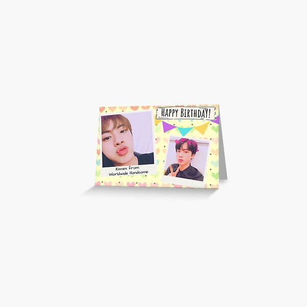 Jin And Jimin Birthday Card Greeting Card By Papermoonkpop Redbubble