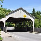 Covered bridge in Queechee Gorge,Vermont by Wanda-Lynn