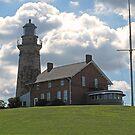 Old Fairport Harbor Lighthouse by Monnie Ryan