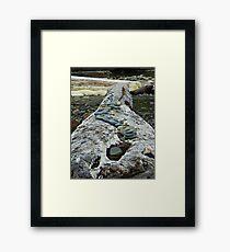 Log memorial Framed Print