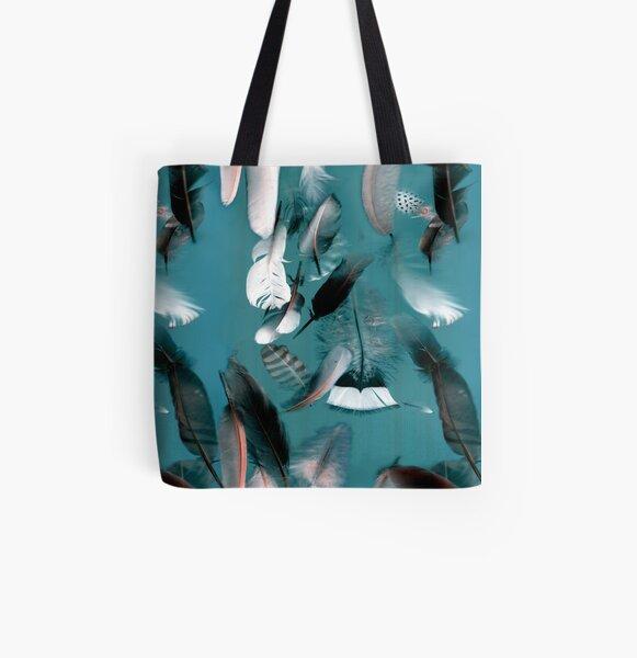 Blue Allover-Print Tote Bag