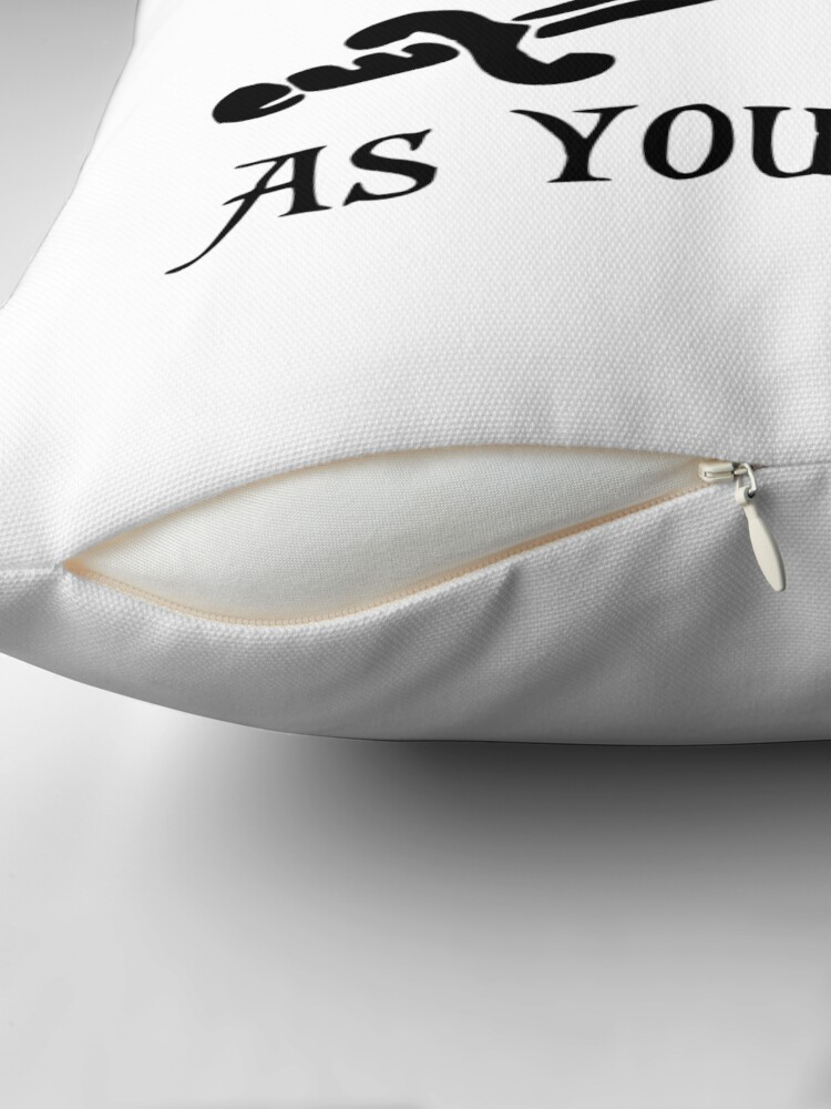 Alternate view of As You Wish... Princess Bride Dread Pirate Roberts Throw Pillow