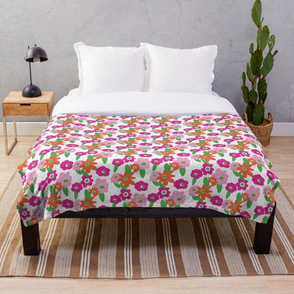 Retro Floral No. 2 Throw Blanket