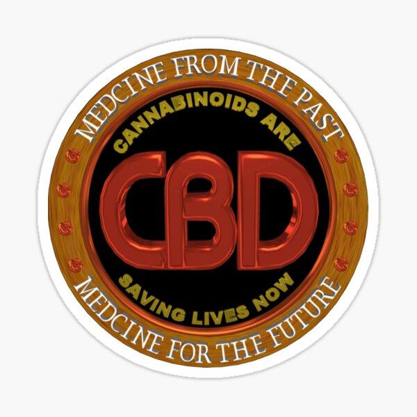 Words CBD Medicine From the Past,Medicine for the Future Sticker