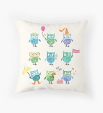 Owls are a Hoot Throw Pillow