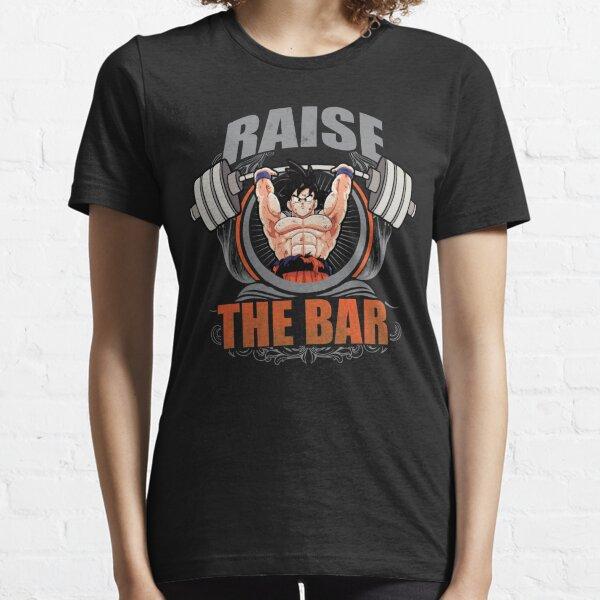 Raise The Bar - Goku Spirit Bomb - Barbell Essential T-Shirt