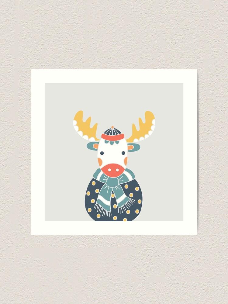 Alternate view of Friendly Moose Art Print