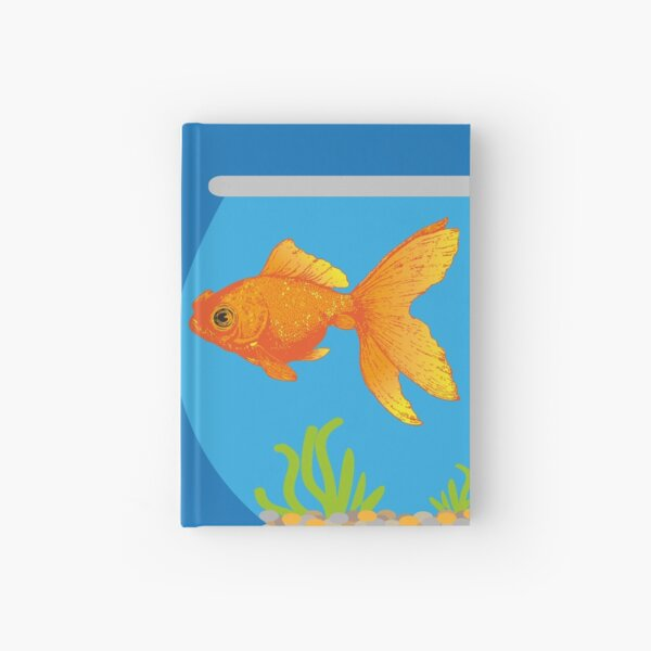 Two Little Goldfish in their Fish Bowls | Vintage Goldfish |  Hardcover Journal