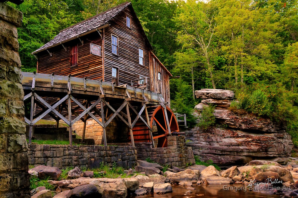 Glade Creek Mill from Below by Gregory Ballos