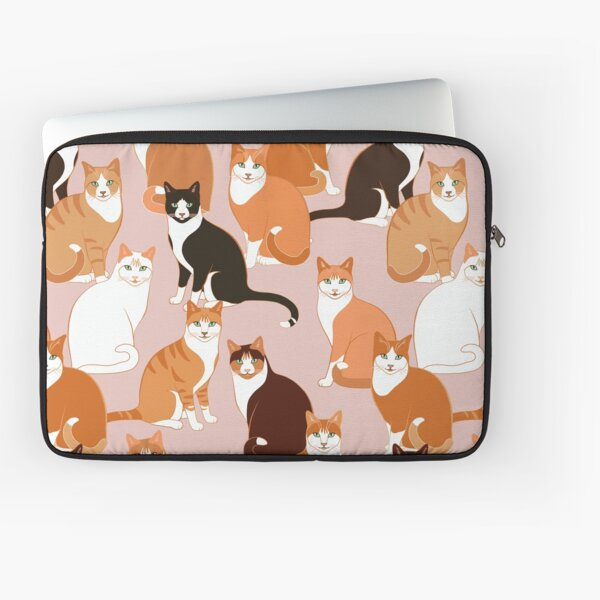 Ginger Cats on pink Laptop Sleeve